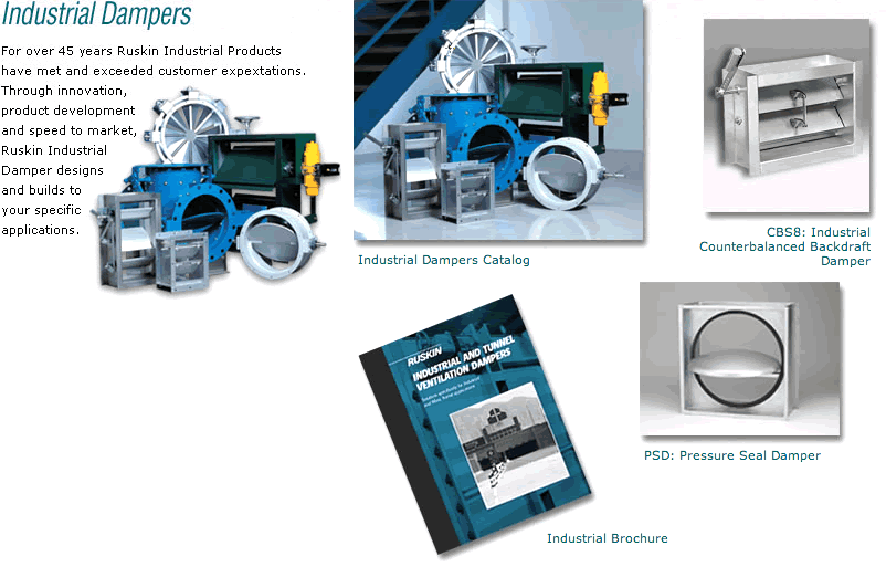 Industrial Control Dampers